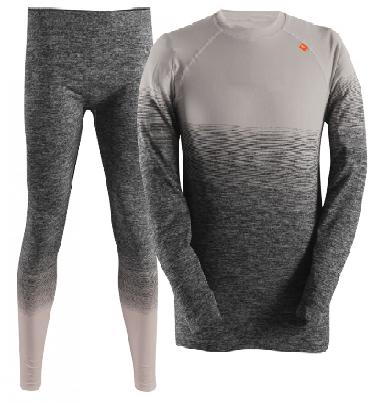 Sportovní oděvy - FLENMO - pánské bezešvé spodní prádlo šedé