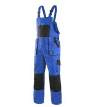 CXS LUXY ROBIN prodloužené monterkové kalhoty s laclem modro-černé