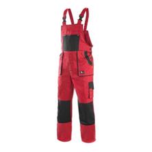 CXS Luxy Robin monterkové kalhoty s laclem červeno-černé