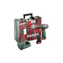 Metabo PowerMaxx SB Basic Set MD Akumulátorová příklepová vrtačka, mobilní dílna 10,8V 2x2,0Ah Li-Ion 600385870
