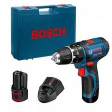 Bosch GSB 12V-15 Professional Aku vrtačka s příklepem 2x2,0Ah 06019B6920