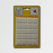 Filcová ochrana 21x21x3 103 čtverec bílá