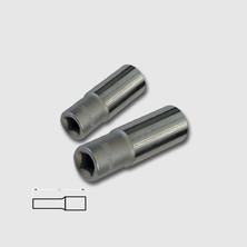 """Honiton Hlavice 4-14mm 1/4"""" prodloužená 40 CRV DIN3124"""