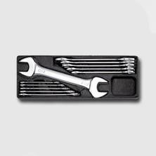 Honiton HA066 Sada plochých klíčů oboustranných 11 dílů - matné, plastové plato