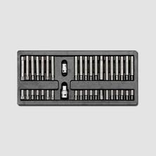 """Honiton Sada zástrčných hlavic 10mm SPLINE TRX  IMBUS 3/8""""1/2"""" 40 dílů, plastové plato"""