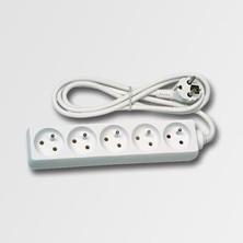 EMOS KL870593 Prodlužovací kabel 5 zásuvek bílý 5m