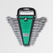 GK Tools Sada plochých klíčů 6-32 mm 12 dílů chrom