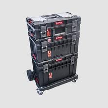 Set boxů PROFI Qbrick s podvozkem 746x500x1030mm