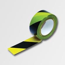 Páska varovací 20m černá-žlutá samolepící
