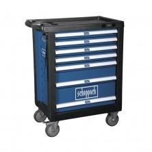 Scheppach TW 1000 dílenský vozík s nářadím, 7 zásuvek, 263 dílů 5909304900