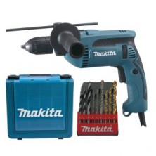 Makita HP1641K1X Příklepová vrtačka s kufrem,rychlosklíčidlo 1,5-13mm,680W