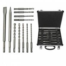 Bosch 11-dílná sada sekáčů a vrtáků SDS-Plus v hliníkovém kufru 2608578765